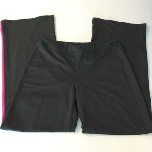 Prospirit Gray Pink Wide Leg Yoga Pants